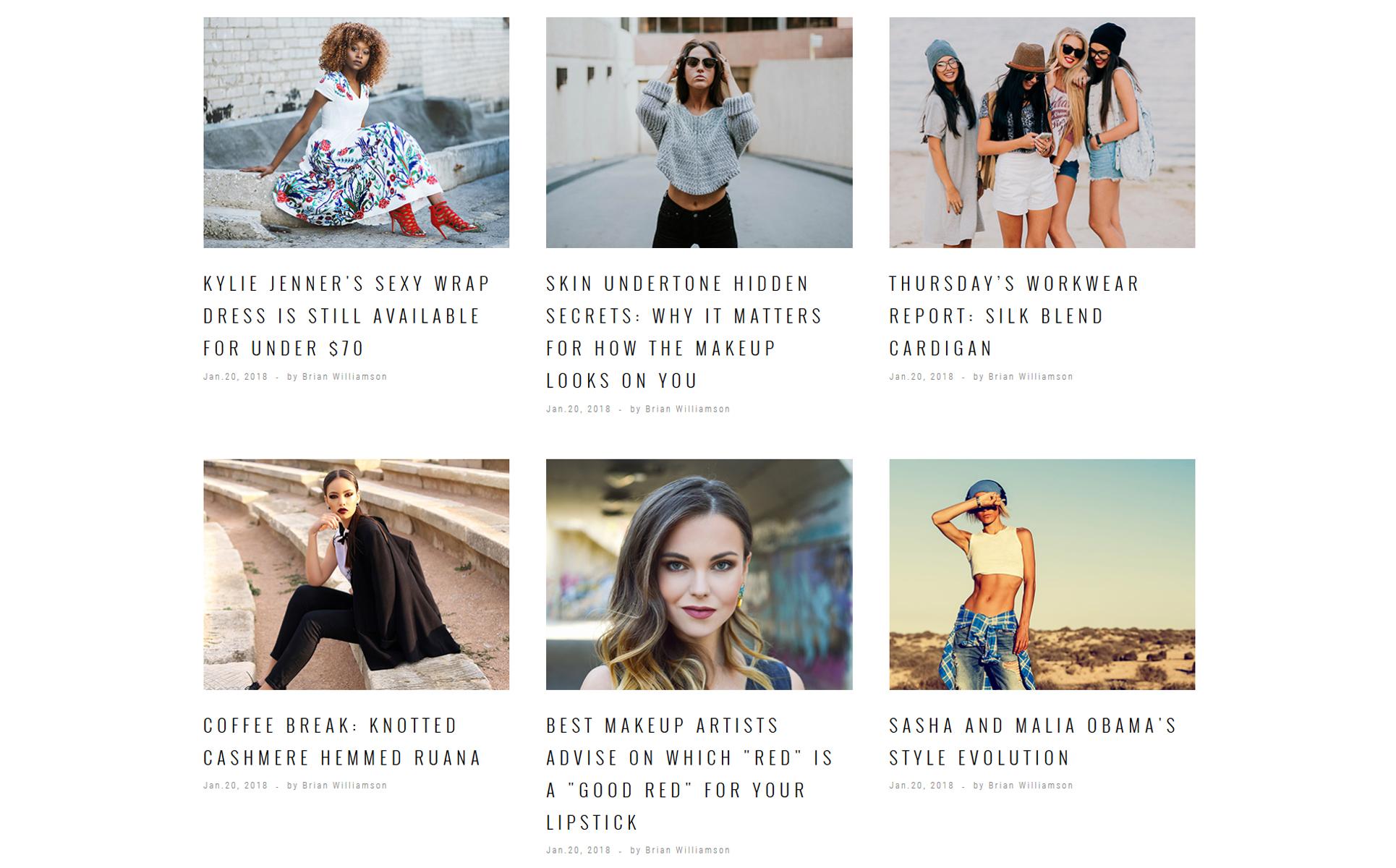 Fashion magazine website template 35