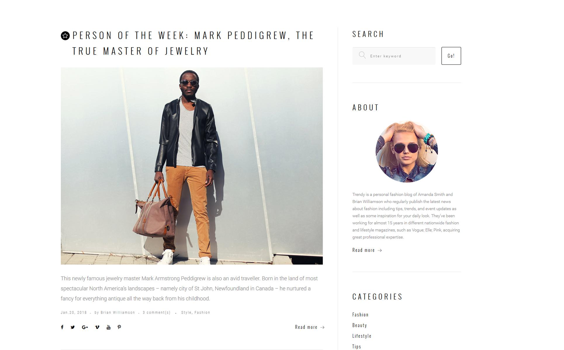 Fashion magazine website template 7