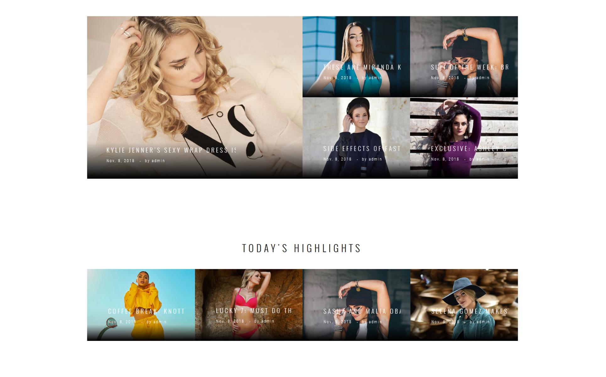 Fashion magazine website template 58