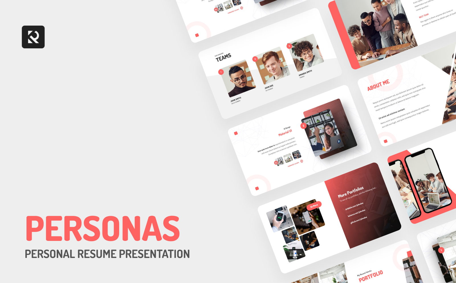 Personas Personal Resume PowerPoint Template