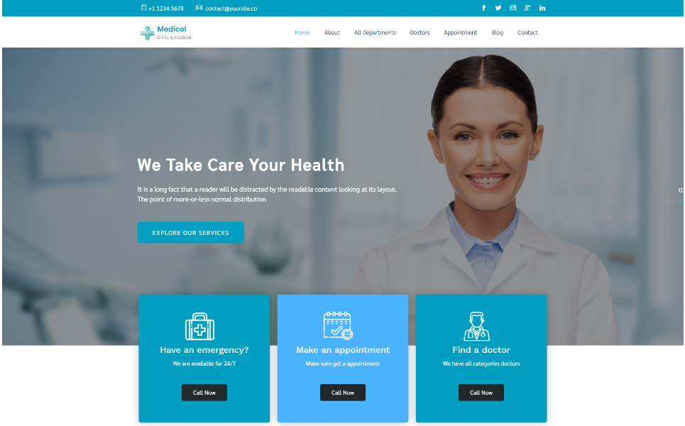 Medicol WordPress Theme