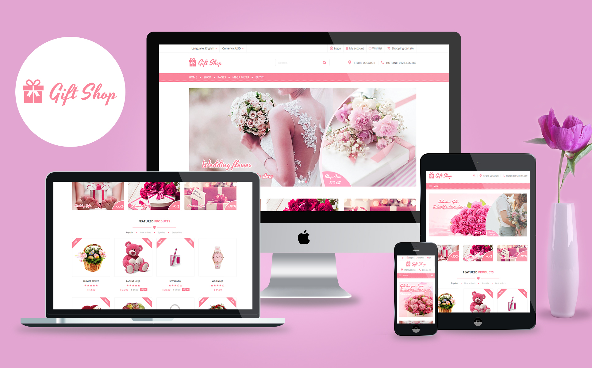 Giftshop - For Gift, Flower, Toy and Accessories stores WooCommerce Theme