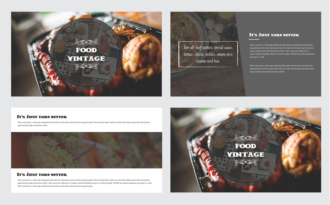 Food Vintage Keynote Template