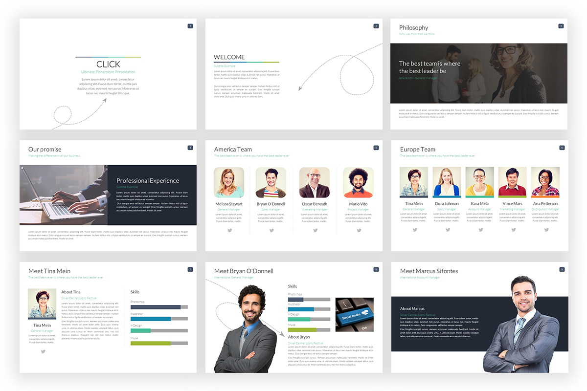 Click Powerpoint Template PowerPoint Template