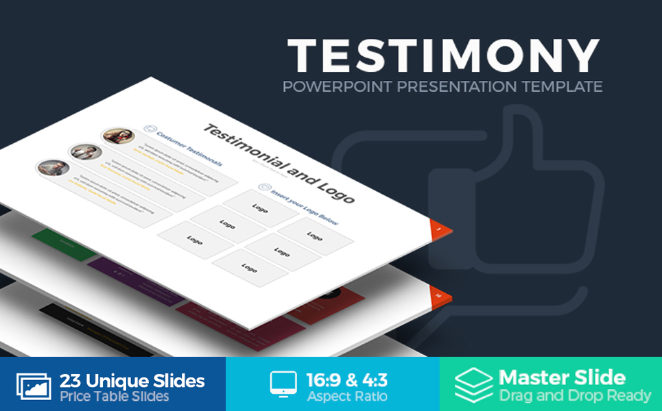 Testimony Presentation PowerPoint Template
