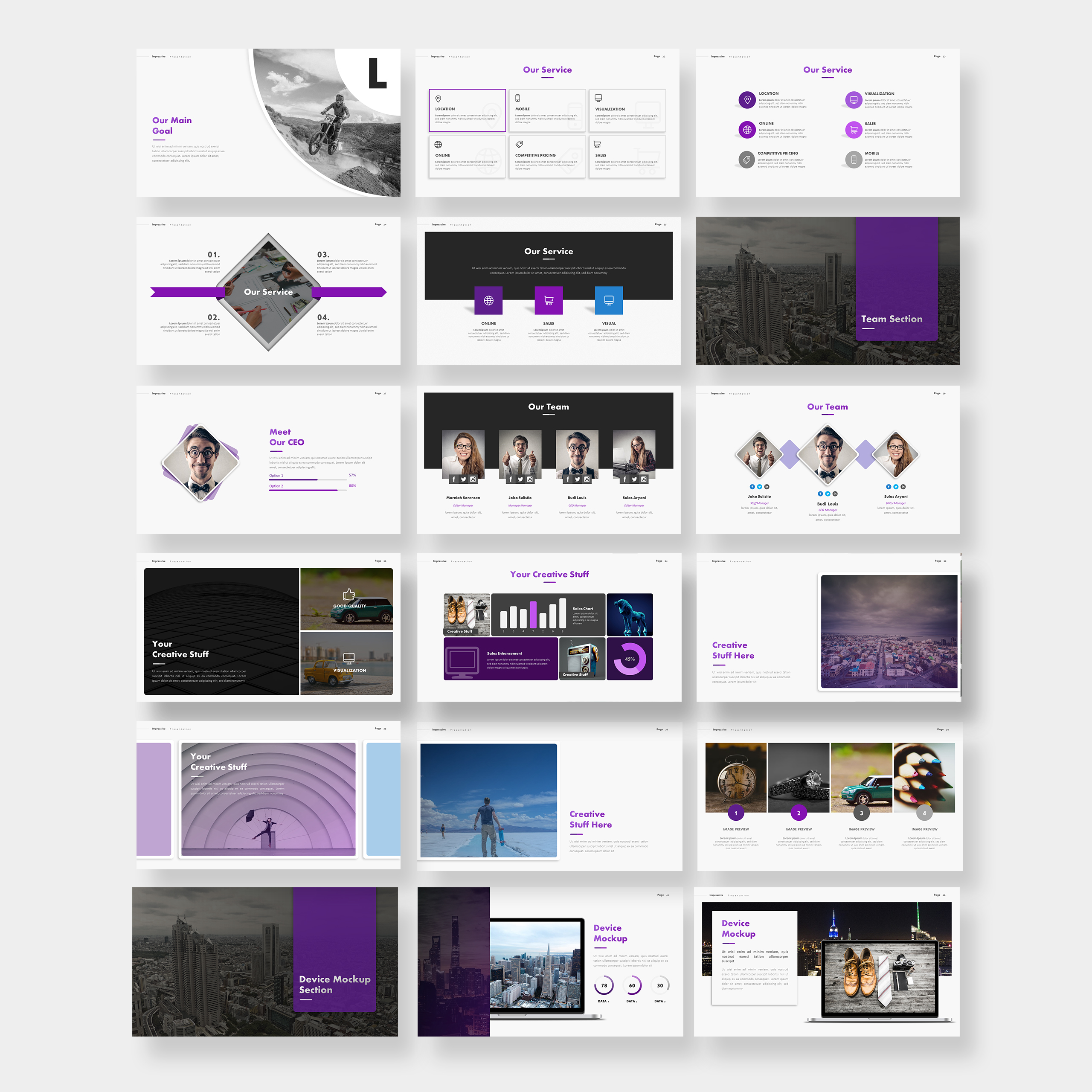 Impressive Presentation PowerPoint Template