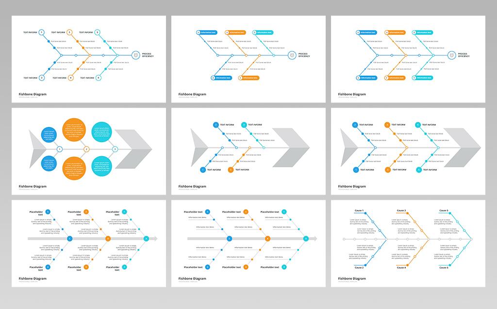 Fishbone Ishikawa Diagram Powerpoint Template