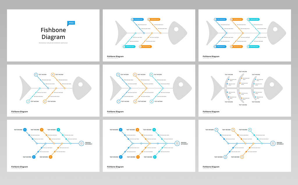 Fishbone & Ishikawa Diagram for Keynote Template