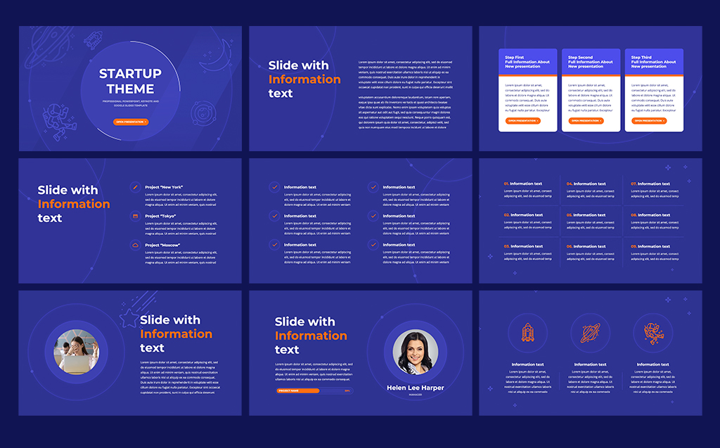 Startup Theme for PowerPoint Template