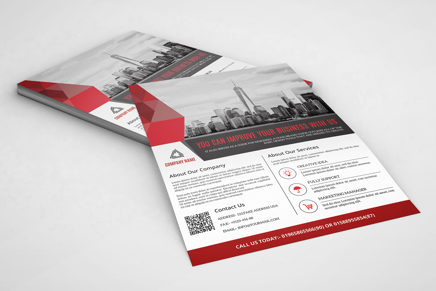 Clean Geometric Business Flyer Corporate Identity