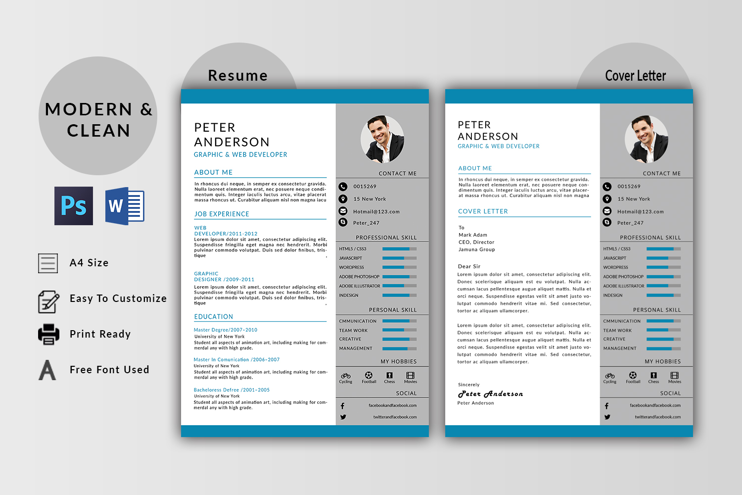 Peter Anderson Resume Template