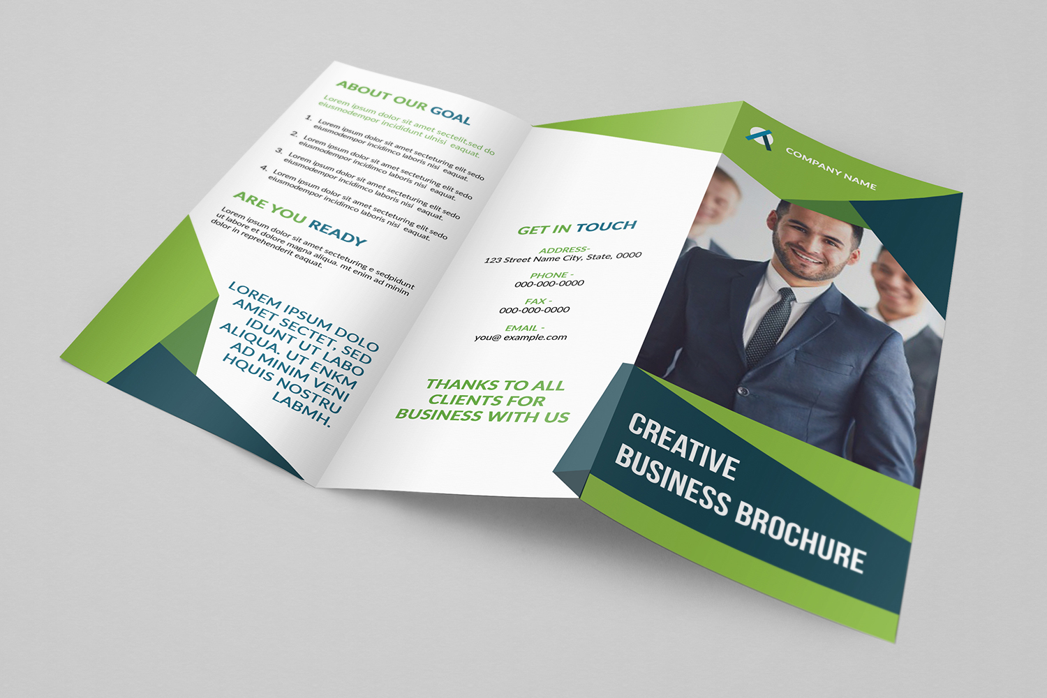 Creative Trifold Business Brochure Corporate Identity