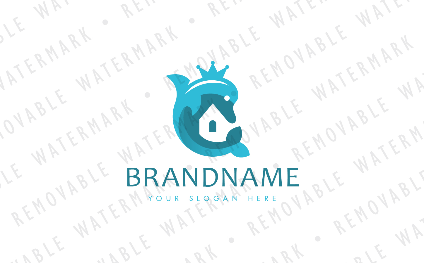 Dolphin Realty Logo Template