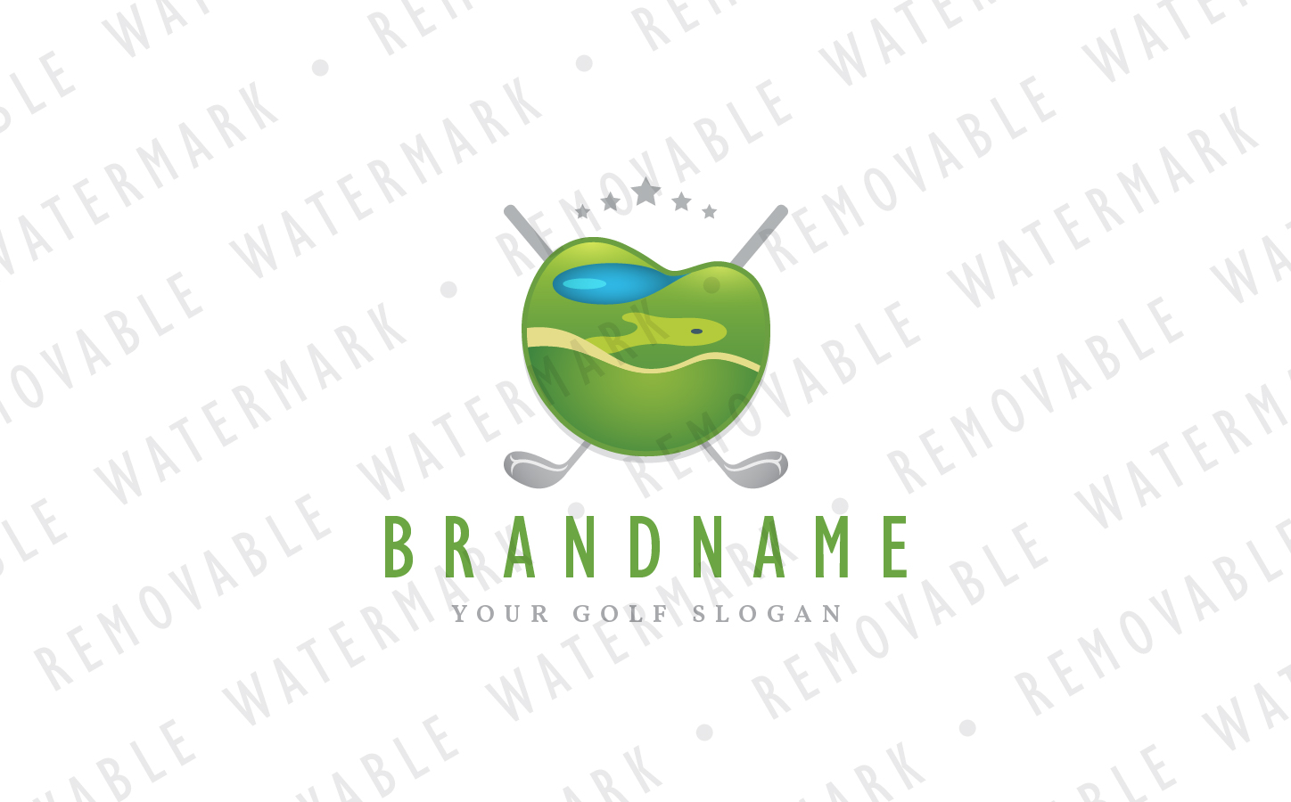 Golf Course Emblem Logo Template