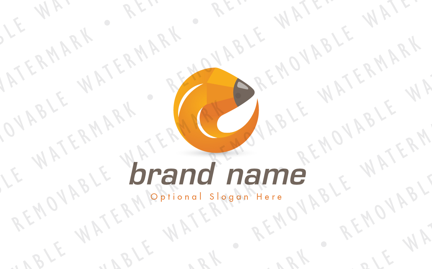 Pencil Circle Logo Template