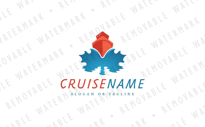 Maple Leaf Cruise Logo Template