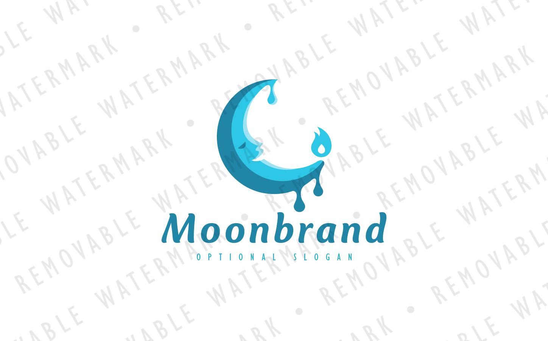 Lunar Candle Logo Template