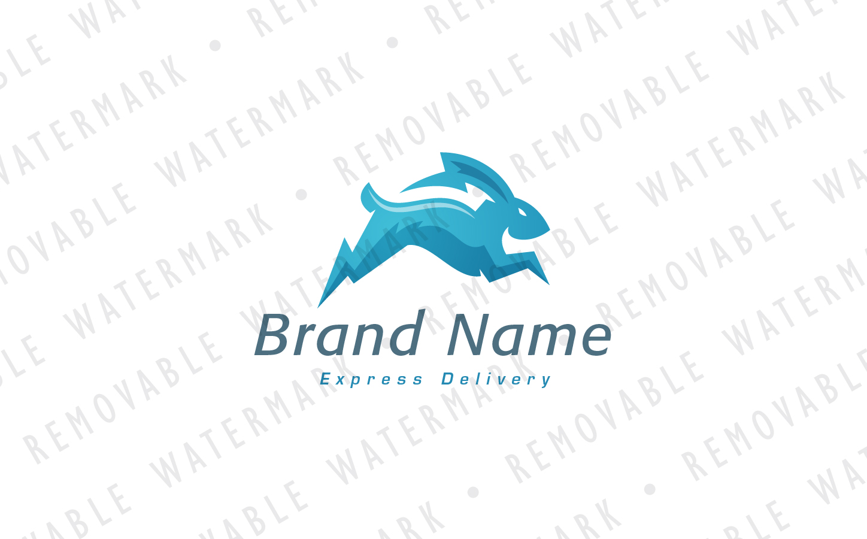 Lightning Rabbit Logo Template
