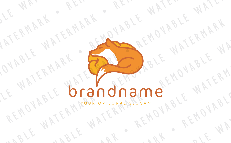 Fox Brain Logo Template