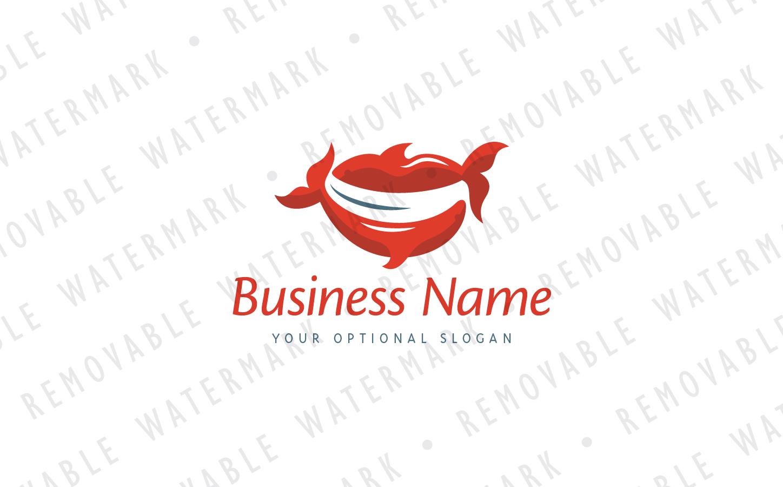 Fish Smile Logo Template