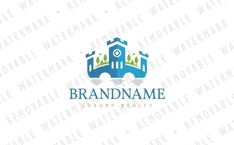 Lake Castle Logo Template