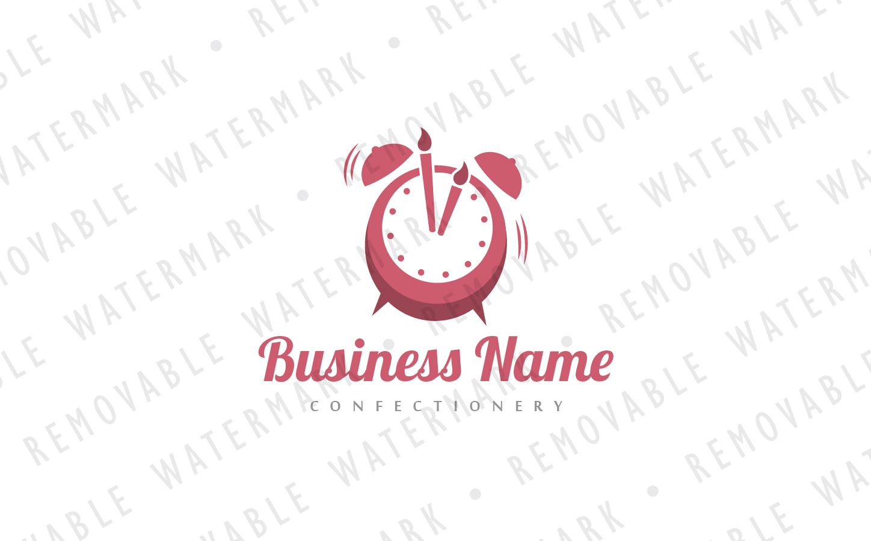 Celebration Alarm Clock Logo Template