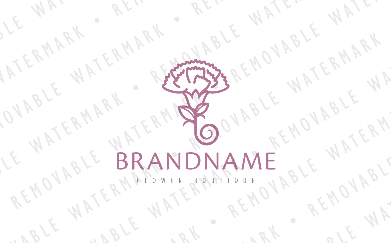 Carnation Flower Logo Template