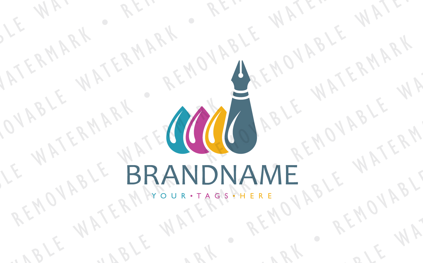 Ink Factory Logo Template