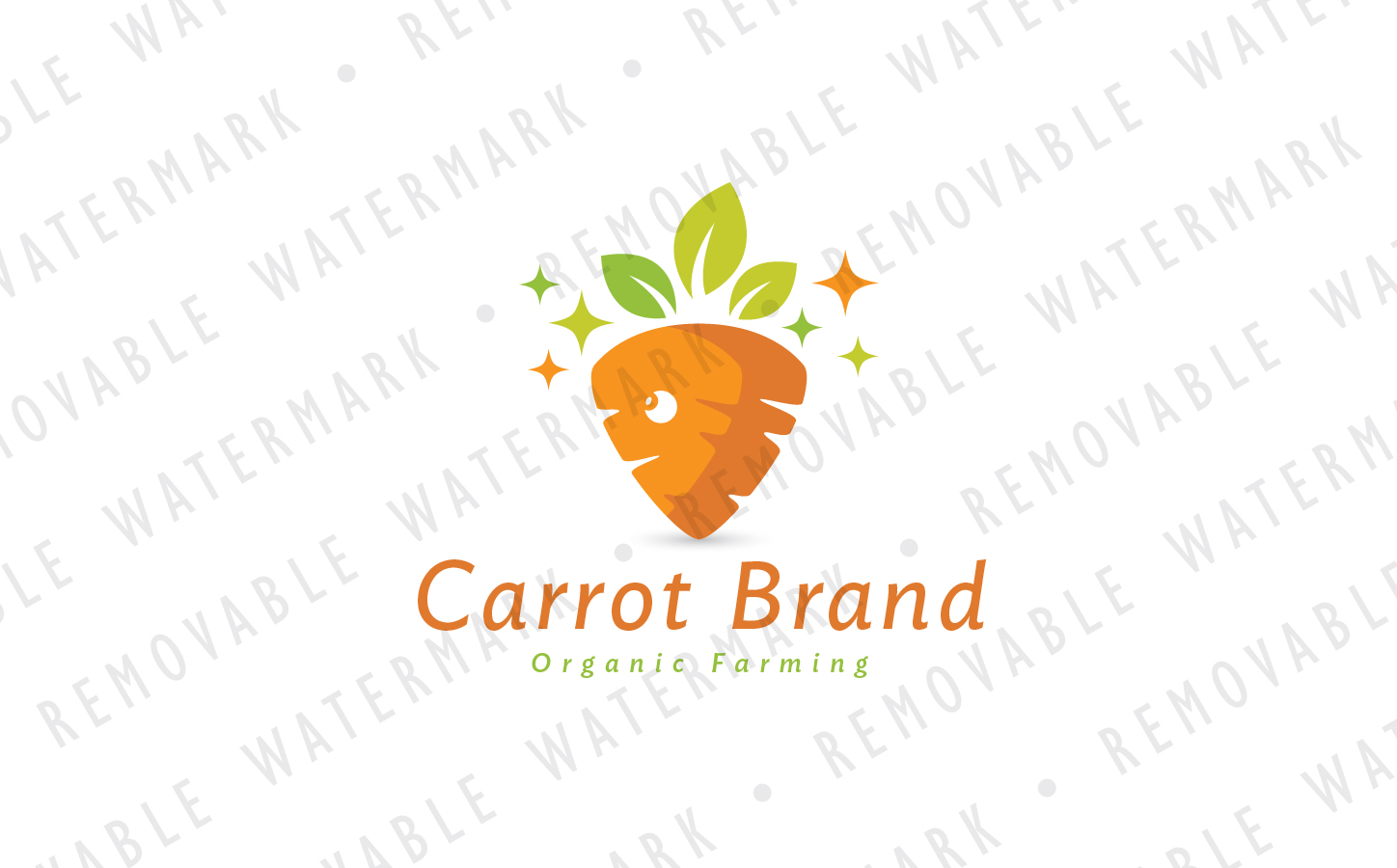 Healthy Carrot Logo Template