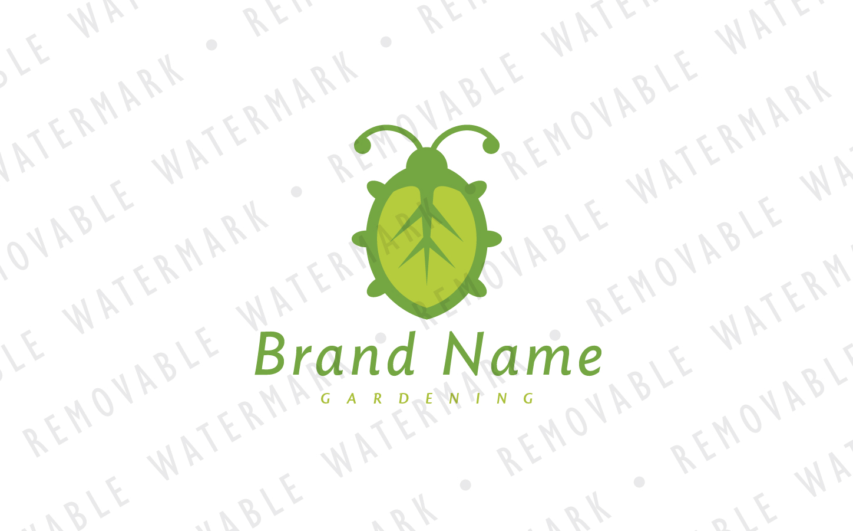 Bug Leaf Logo Template