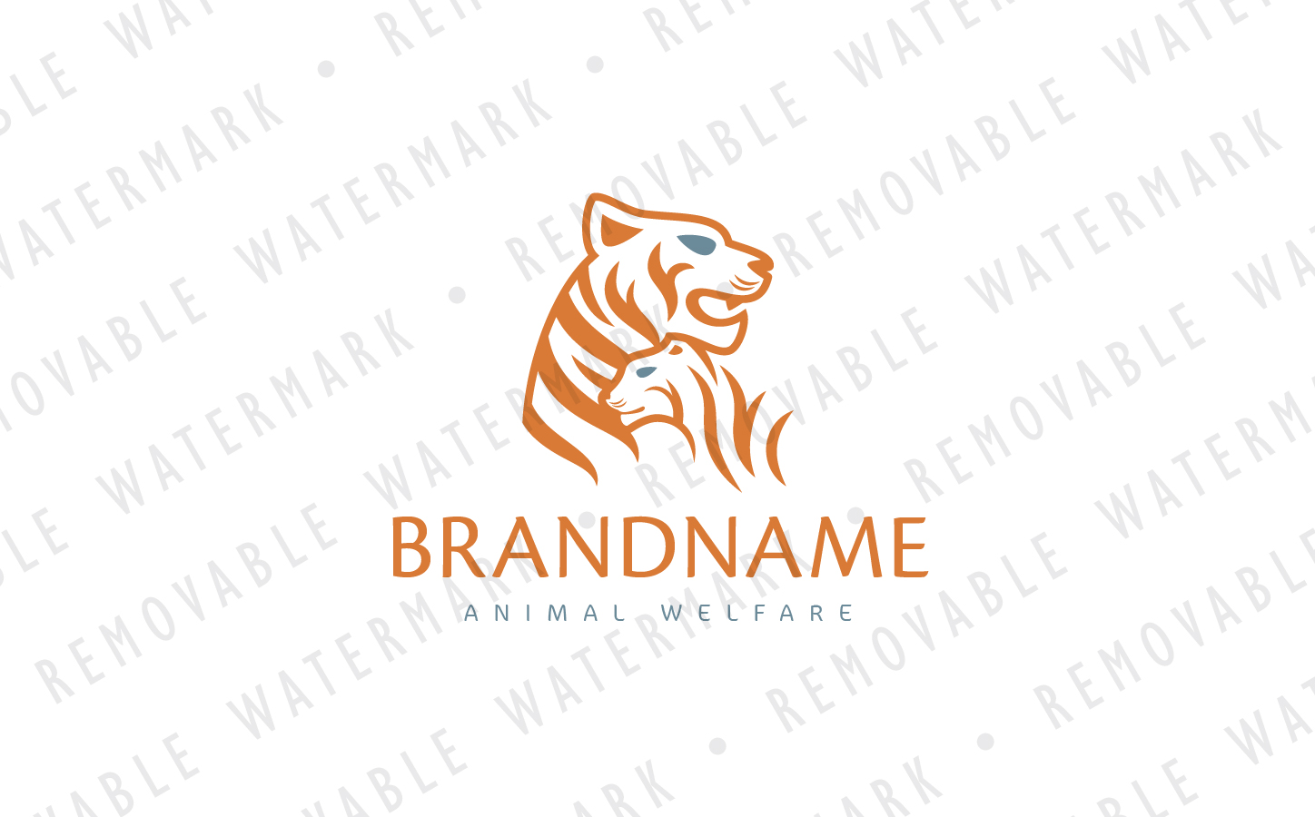 Tiger Family Logo Template