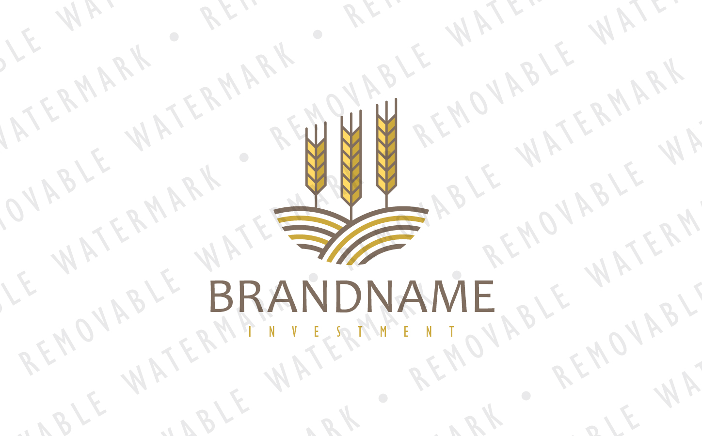 Crop Investment Logo Template