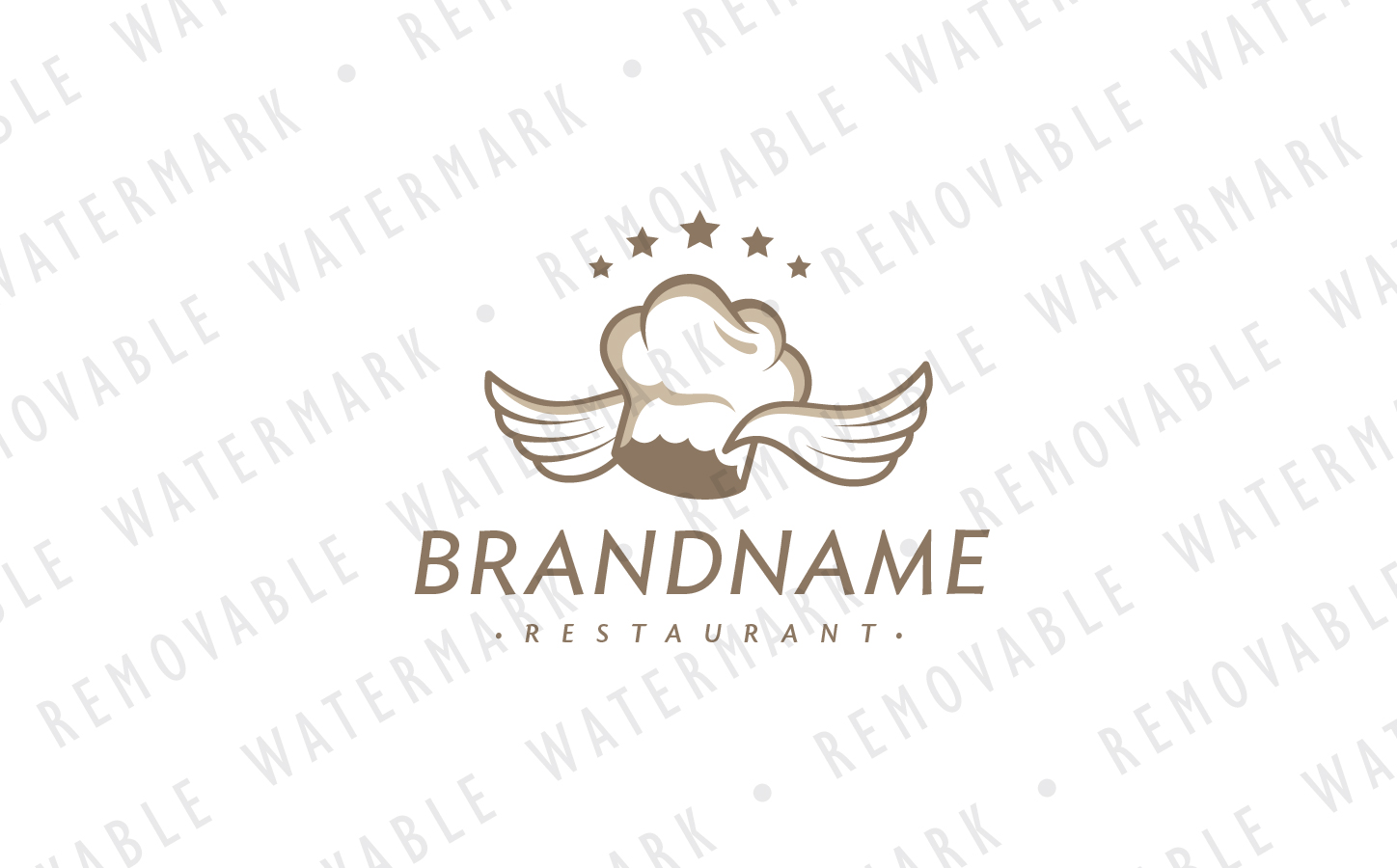 Flying Chef Logo Template