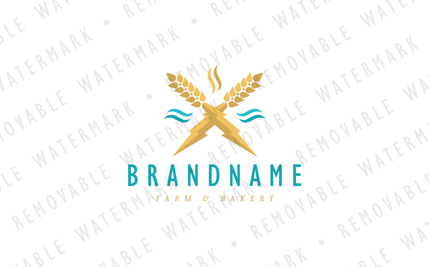 Magical Wheat Logo Template