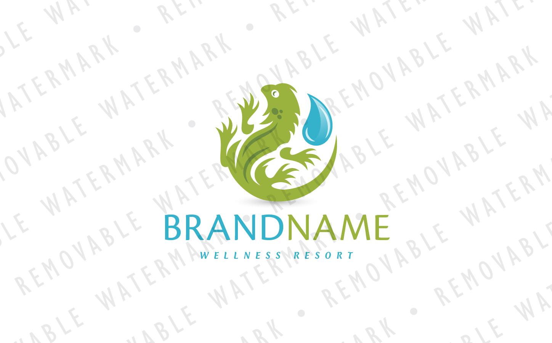 Aqua Iguana Logo Template