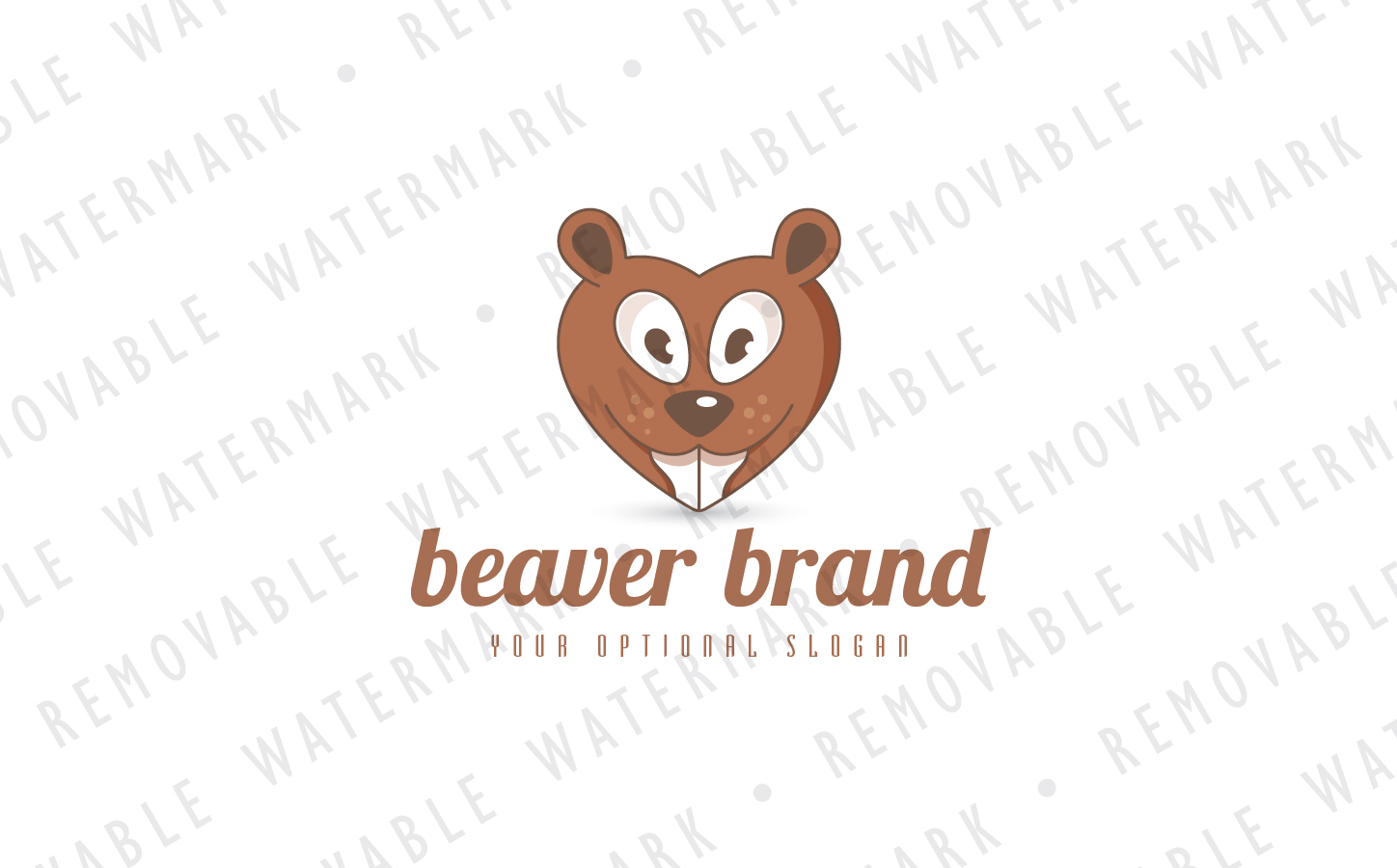 Beaver Love Logo Template
