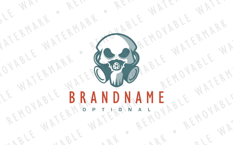 Lunatic Skull Logo Template