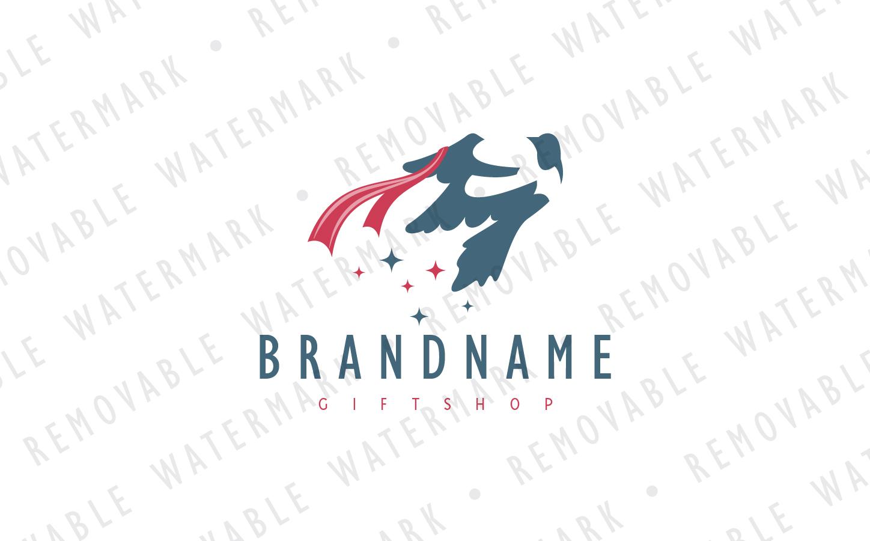 Magpie & Ribbon Logo Template