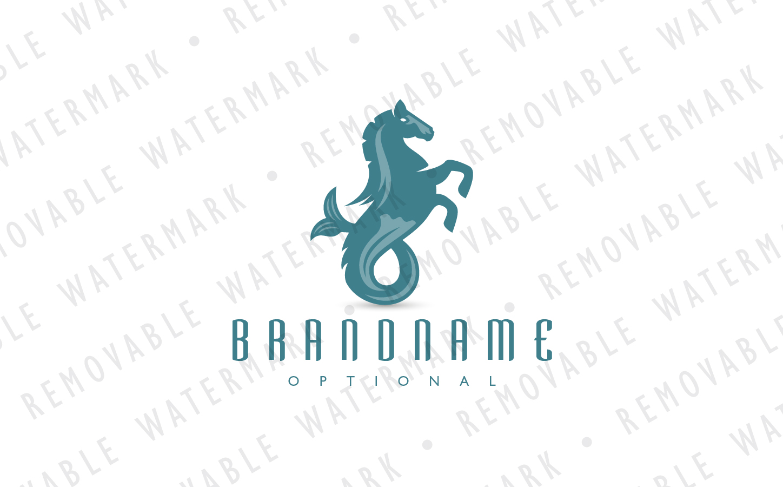 Hippocampus Sea Horse Logo Template