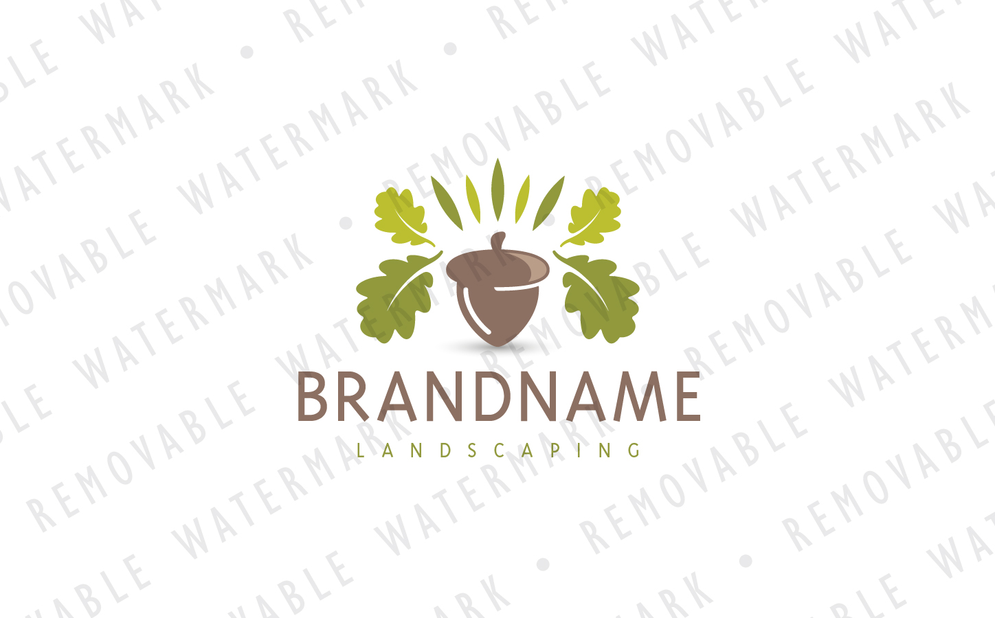 Leaf Crowned Acorn Logo Template