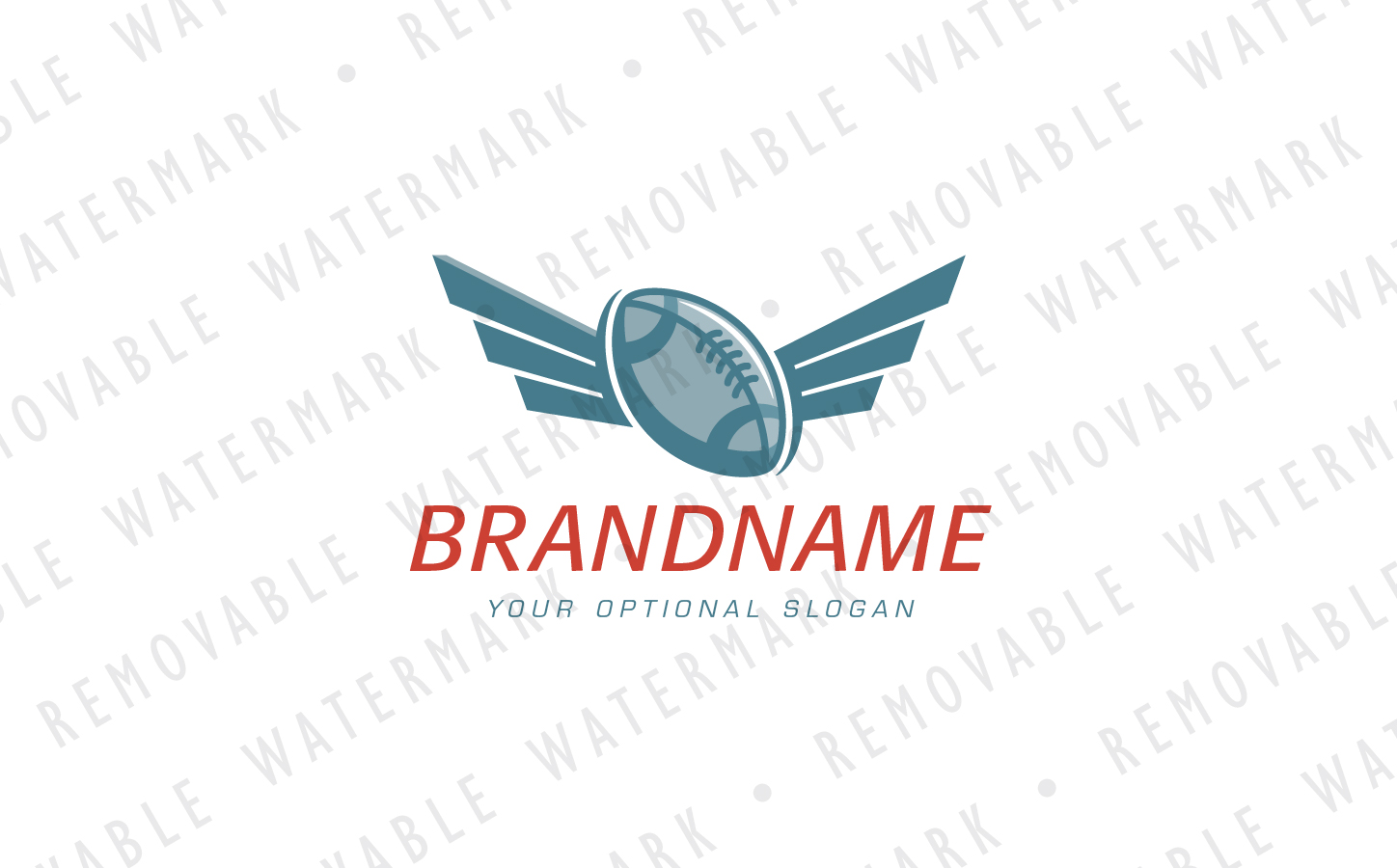 American Football Wings Logo Template