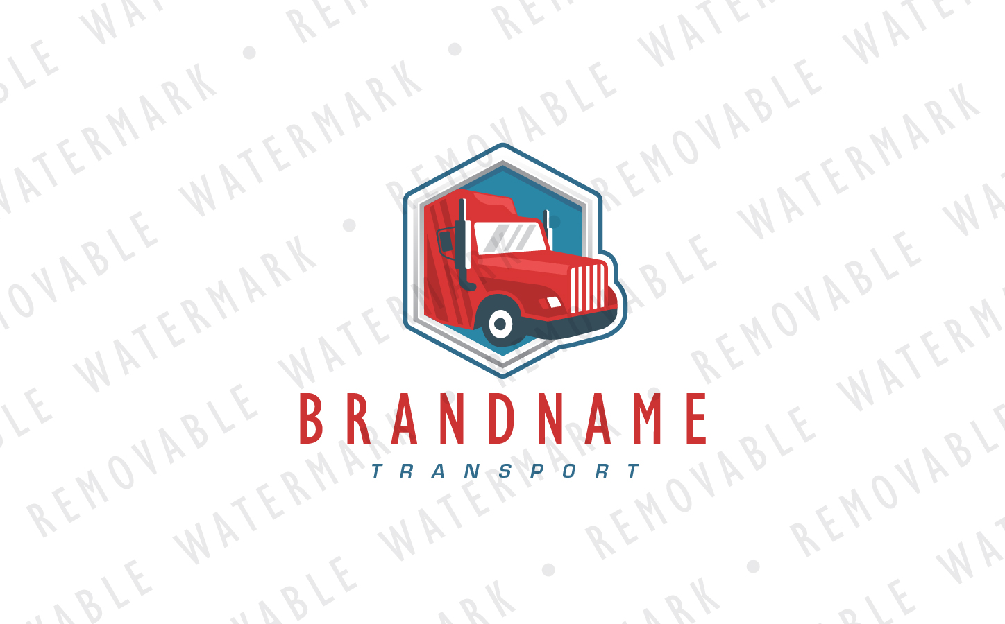 Shipping Truck Logo Template