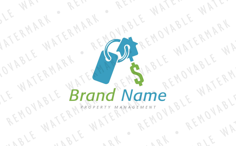 Real Estate Key Ring Logo Template