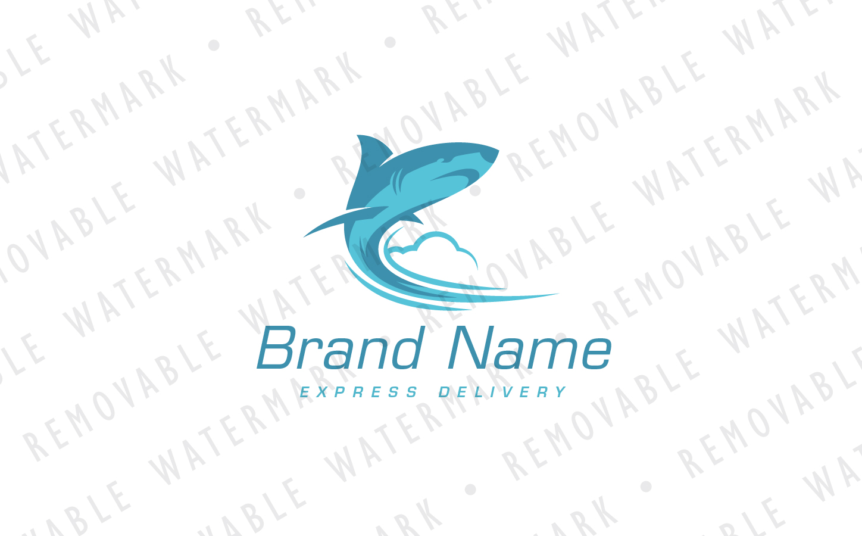 Shark Missile Logo Template