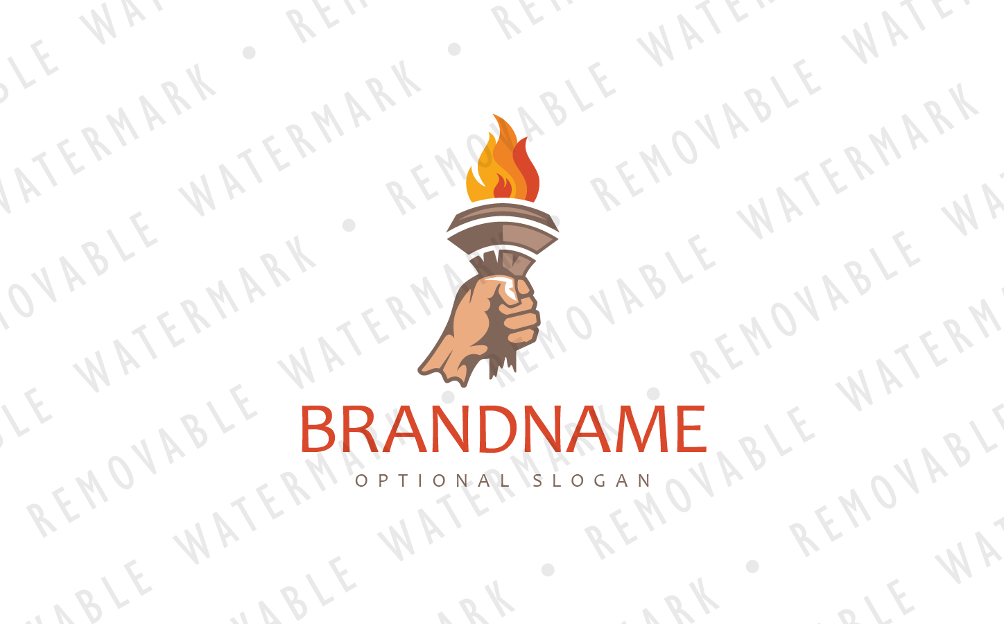 Flame of Inspiration Logo Template