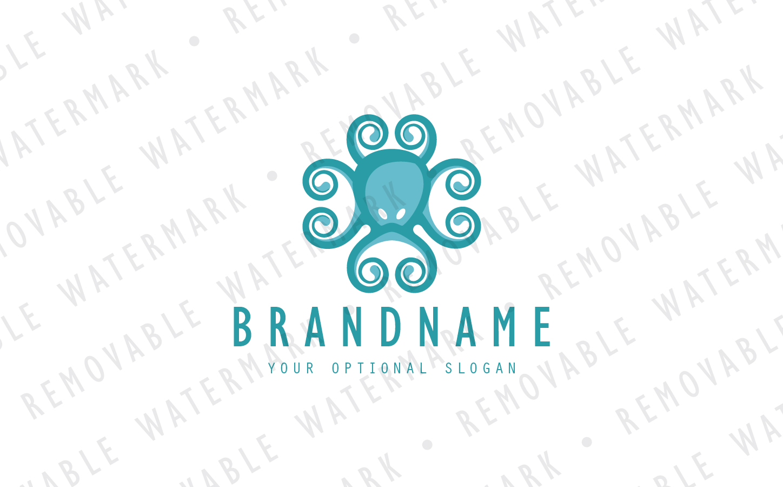 Octopus Ornament Logo Template