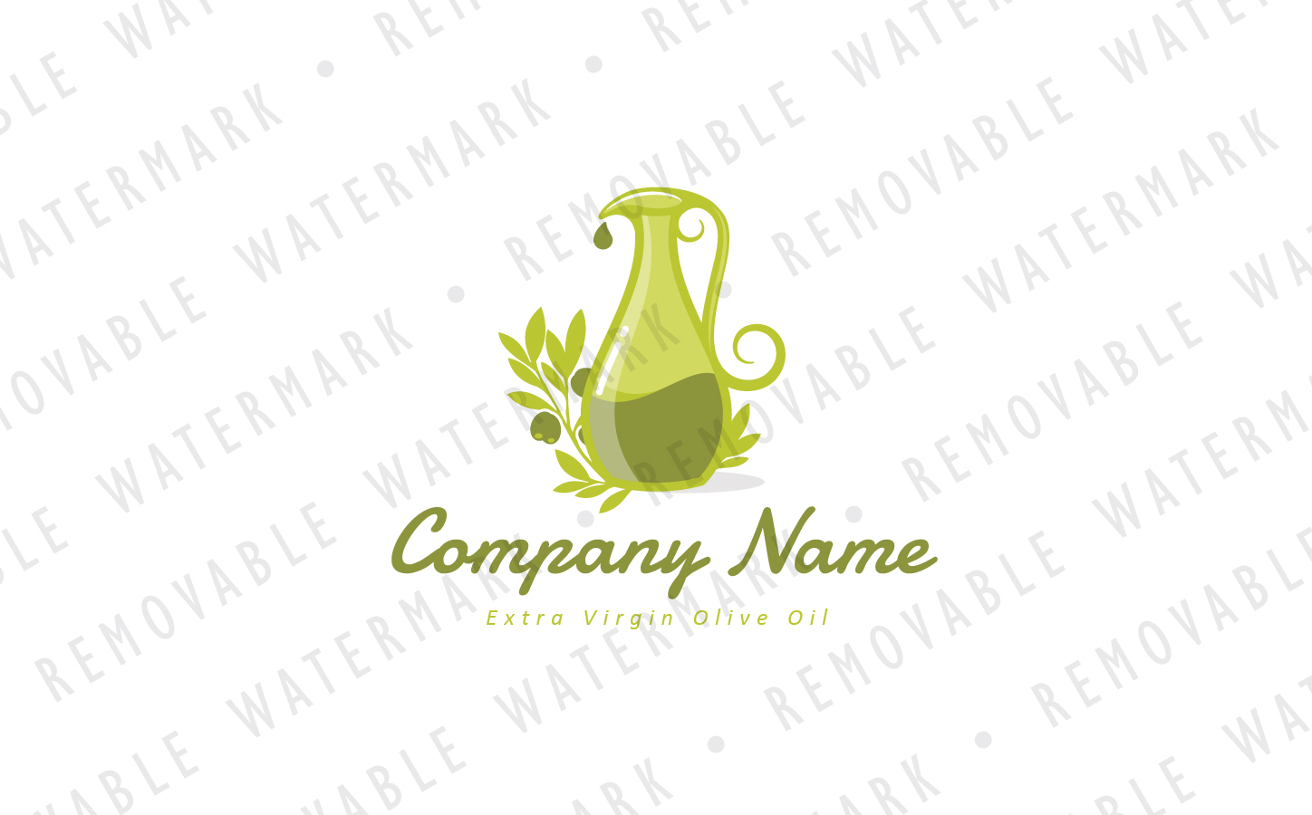 Jug of Olive Oil Logo Template