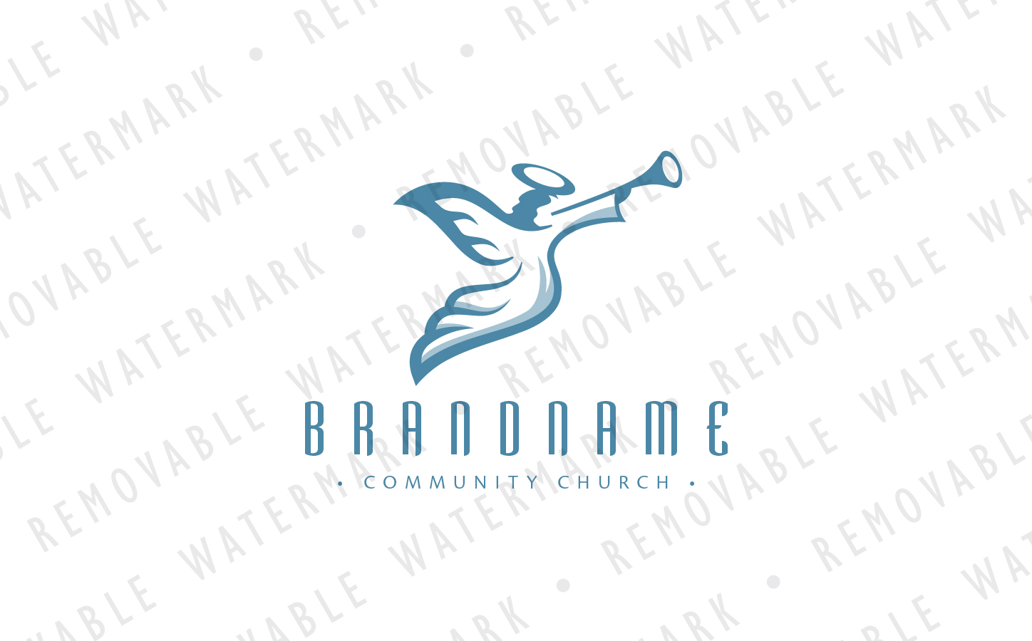 Angel with Trumpet Logo Template