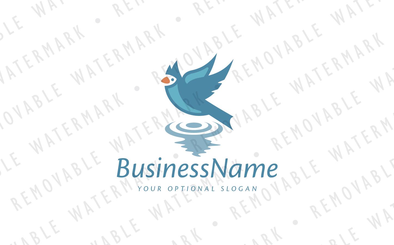 Bird Above Water Logo Template