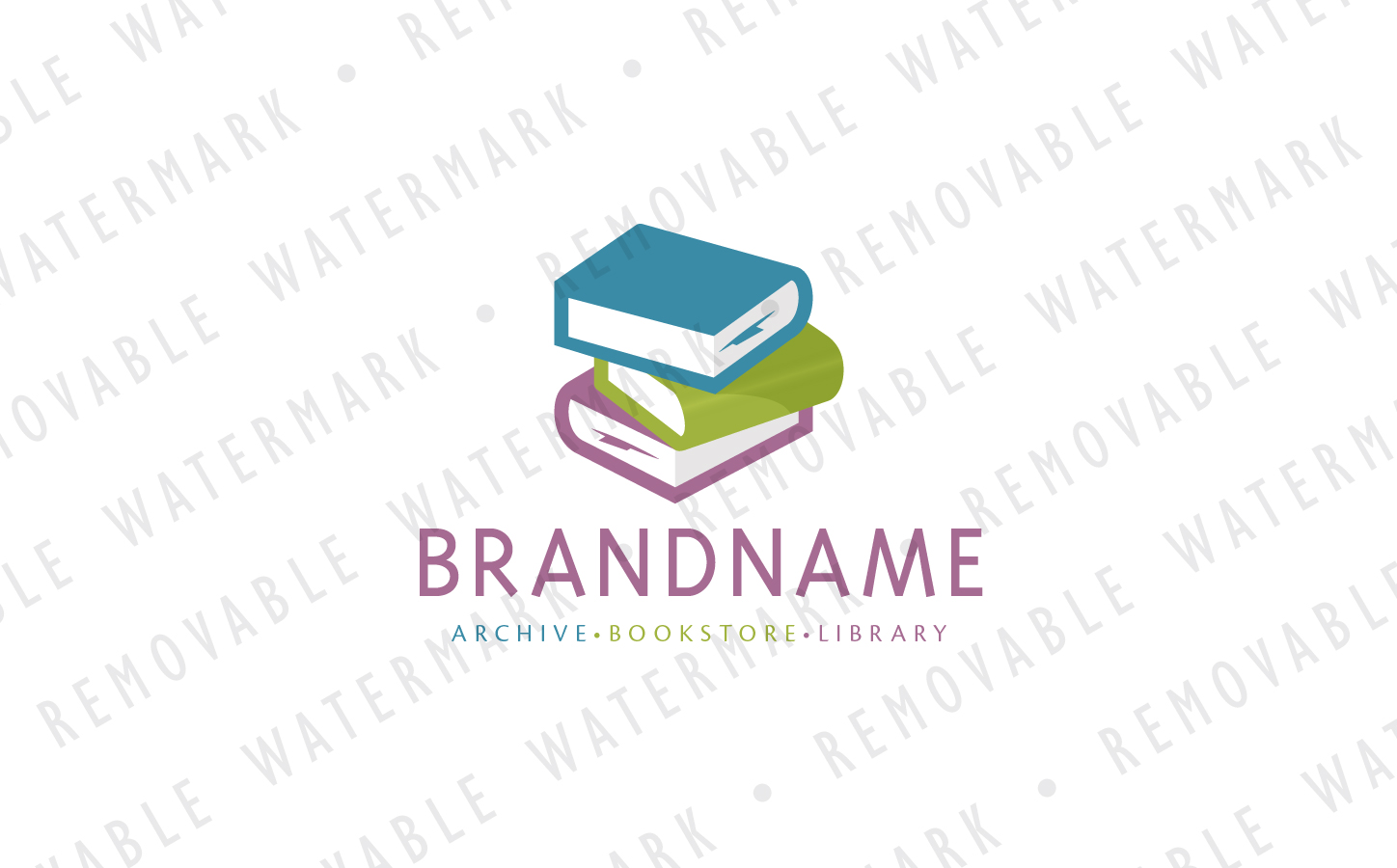 Pile of Books Logo Template